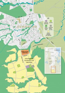 Map showing the site of Mt Peter Catholic College.