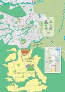 Map showing the proposed new Catholic College at Mt Peter