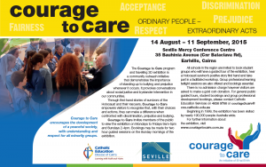 Courage to Care exhibition - 14th August to 11th September 2015