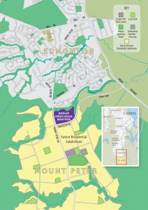 Map showing the site of MacKillop Catholic College, Mount Peter.