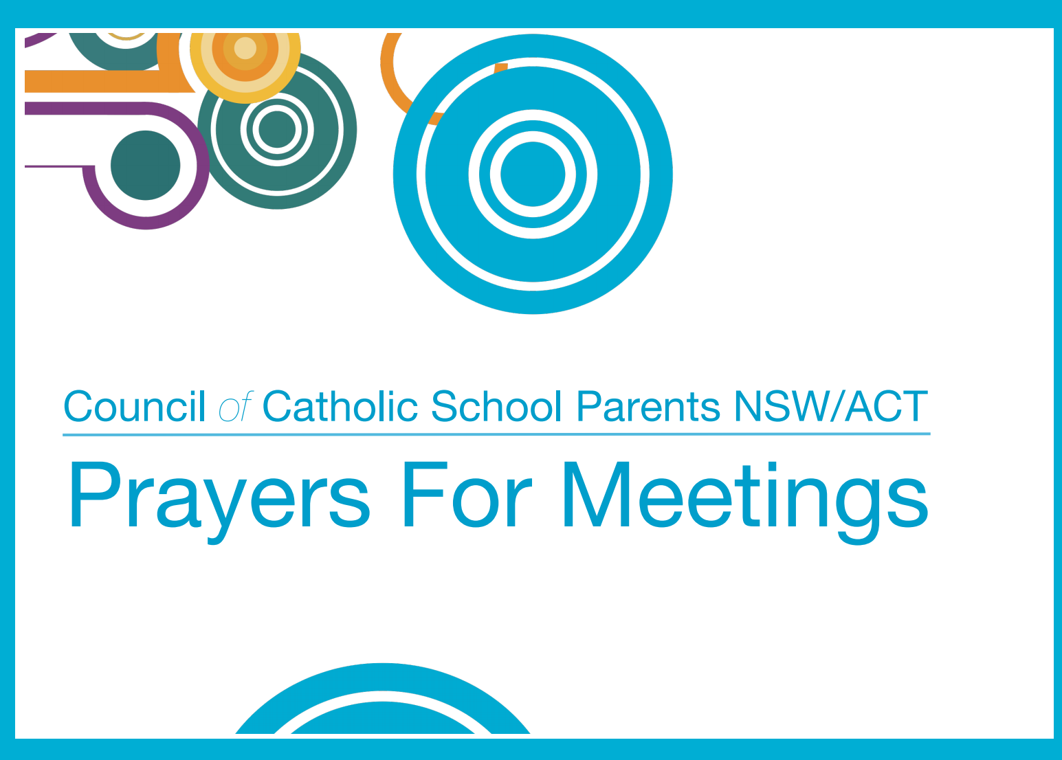 Prayers for Meetings | Catholic Education, Diocese of Cairns