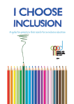 I choose inclusion – a practical guide for parents in their search for an inclusive education